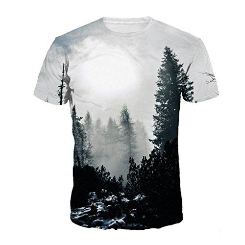 Darkey Wang Men Fashion T-shirts Creative 3D Tee Print Leisure Sports Short Sleeve T-shirt(M) (2015 Daily Planner With Zipper)