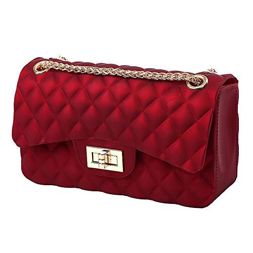 Chain Bag | Stylish Crossbody Purse | Fashion Handbags for Women and Girls | 4 Colors - Black, Red, Grey, Green
