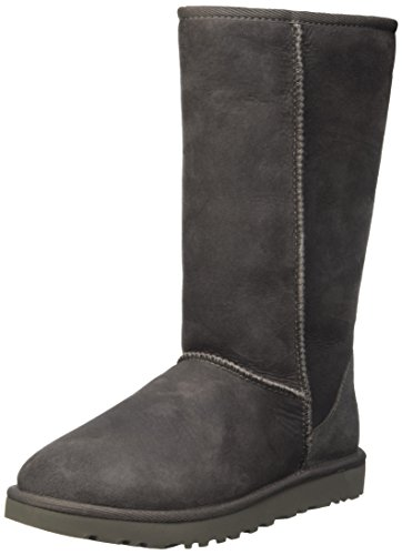 Ugg Women's Classic Tall II Leather Grey Mid-Calf Suede Boot