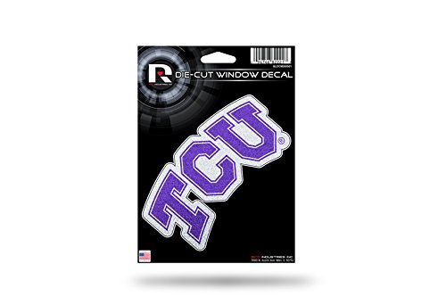 UPC 094746822217, TCU Horned Frogs Color Glitter Bling Sticker Decal Medium Die Cut
