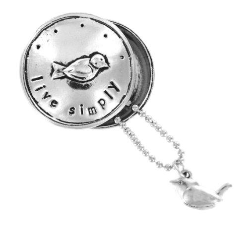 Live Simply Bird Pewter Blessing Box & Charm with Gift Box Retired