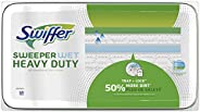 Swiffer Sweeper Wet, Heavy Duty Mopping Pad, Multi Surface Cleaner Refills For Floor Mop, Open Window Fresh, 2