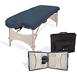 "EARTHLITE Portable Massage Table Package HARMONY DX – Eco-Friendly Design, Deluxe Adjustable Headrest (30""x73"")"