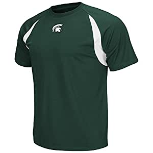 Mens NCAA Michigan State Spartans Athletic Performance Short Sleeve Tee Shirt_L