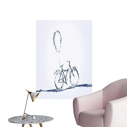 (SeptSonne Wall Stickers for Living Room a Water Bicycle cycl a Balloon tie to it Vinyl Wall Stickers Print,24