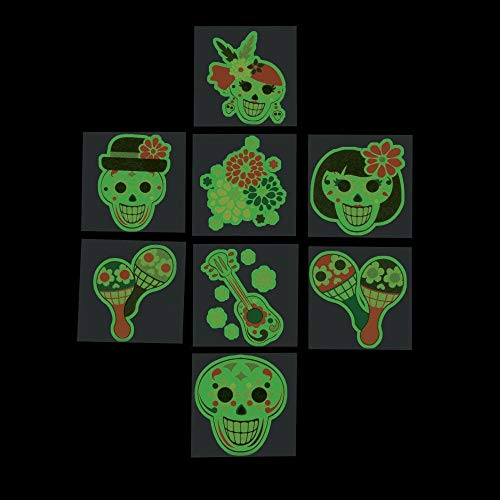 Day of the Dead Glow in the Dark Temporary Tattoos (6 Dozen Per Unit)]()