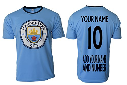 ICON SPORTS Manchester City Soccer Jersey Black Youth Boys Training Custom Name and Number (YM, YES Custom Name) (Toddler Manchester City Jersey)