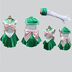 Sailor Moon Sailor Jupiter Makoto Kino Cosplay Costume Customized Any Size