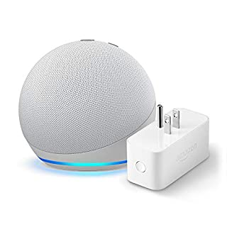All-new Echo Dot (4th Gen) + Amazon Smart Plug | Glacier White