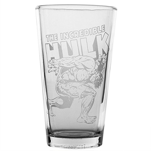 The Incredible Hulk Hero Logo Etched Pint Glass - Logo Etched Glass