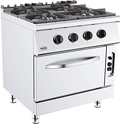 Combisteel - Hornillo para horno de 4 o 6 fuegos vivos, serie ...