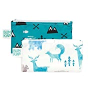 Bumkins Snack Bags, Reusable, Washable, Food Safe, BPA Free, 2-Pack - Outdoors & Wildlife