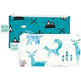 Bumkins Snack Bags, Reusable, Washable, Food Safe, BPA Free, 2-Pack – Outdoors & Wildlife