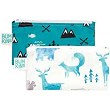 Bumkins Reusable Snack Bag Small 2 Pack, Outdoors & Wildlife (BN)