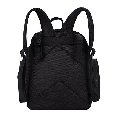 Bolsas de pañales Mulity, bolsa de pañales con cambiador y papel caja, negro