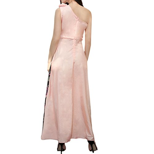 Langes kleid rosa weib