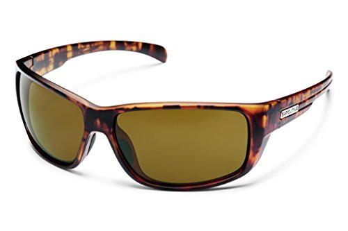 Suncloud Milestone Polarized Sunglass with Polycarbonate Lens, Matte Tortoise - Polycarbonate Sunglasses Polarized