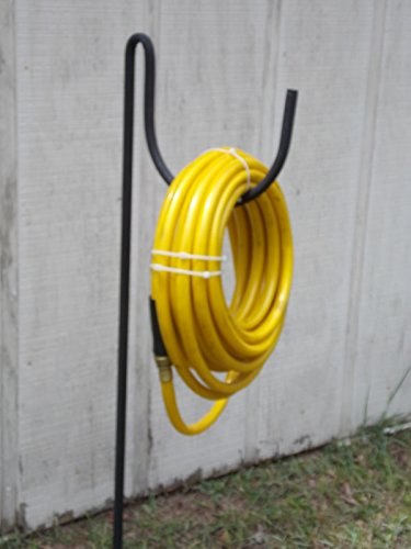 Metal Garden Hose Holder Won't Rust Wrought Iron Look Holds 200' of Hose