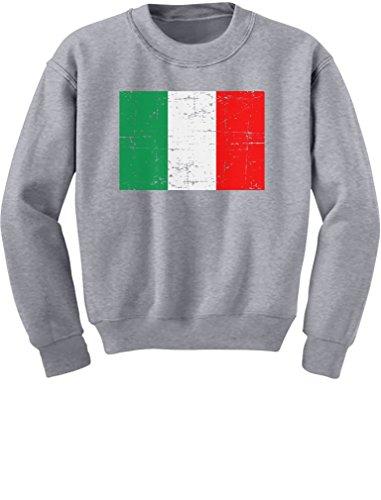 - TeeStars - Vintage Italy Flag Retro Italian Style Youth Kids Sweatshirt Large Gray