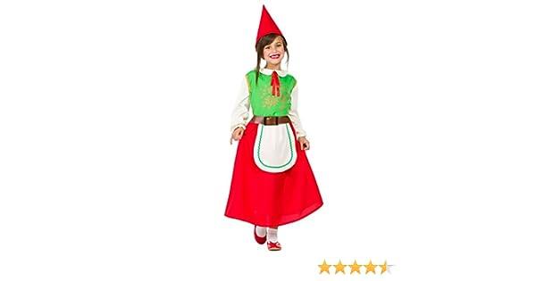 Disfraz Gnomo Niña (7-9 AÑOS): Amazon.es: Juguetes y juegos