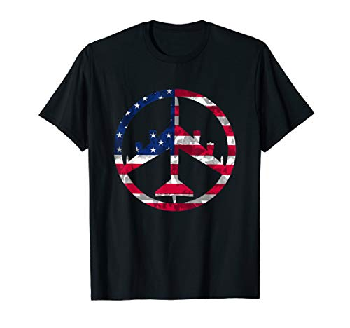 Peace Through Superior Firepower B-52 Bomber T shirt