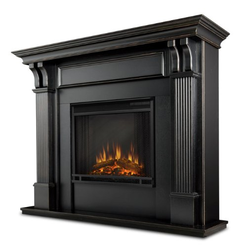 (Real Flame Ashley Electric Fireplace, Blackwash)
