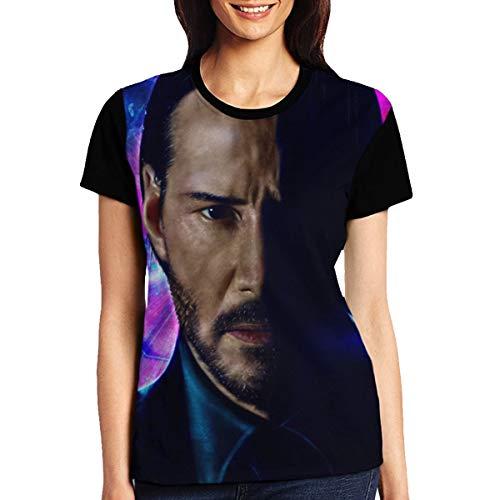 John Continental Hotel Assassin Killer Jonathan Wick T Shirt Short Sleeve Tee Shirts for Adult Women (XXL)