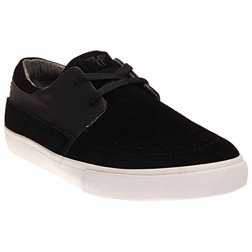 Fallen Men's Roach Skateboard Shoe, Black/Grey Chambray, 8 M US