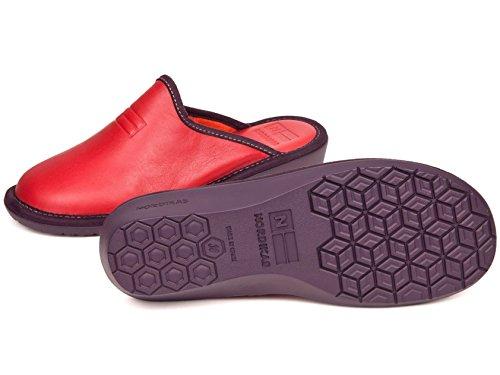 in rossa da Nordikas Pantofole pelle donna gqC4dx6