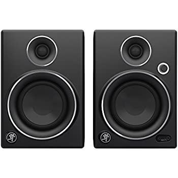 mackie studio monitor black w silver trim 4 inch cr4ltd musical instruments. Black Bedroom Furniture Sets. Home Design Ideas