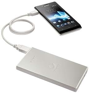 Sony CP-F2LSA - Batería exterma de 7000 mAh (Li-ion, USB), color plateado