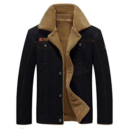 Winter Inlefen Clothing Black Casual Lapel Cotton Men's Jacket top Warm fOrOdqxA