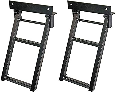 BUYERS PRODUCTS 5232000 Black Powder Coated Steel Retractable Truck Step