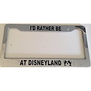 80%OFF Strawbaru I\'D RATHER BE AT DISNEY WORLD Chrome License Plate ...