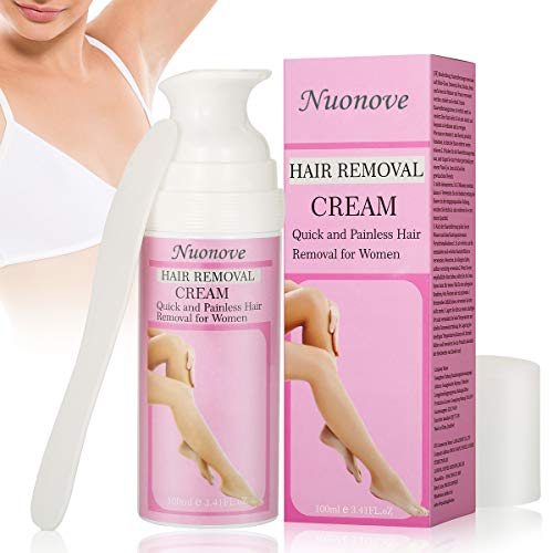 Hair Removal Cream for Women, Hair Depilatory Cream, Face Hair Removal Cream, Natural Painless Permanent Thick Hair Removal Cream, Used on Underarm,Chest, Back, Legs and Arms for Women, 100ml