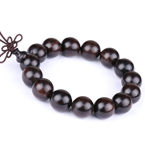 Auspicious Cloud Sandalwood Bracelet Link Wrist Tibetan Buddhist Prayer Beads Buddha Mala (Black) (Prayer Tibetan Beads Buddhist)