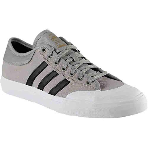 adidas Originals Men's Matchcourt Running Shoe, Medium Heather Solid Grey/Black/White, 11 M US
