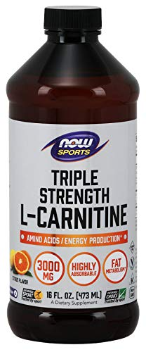 NOW Foods Sports Triple Strength L-Carnitine Liquid Citrus -- 3000 mg - 16 fl oz by Now ()