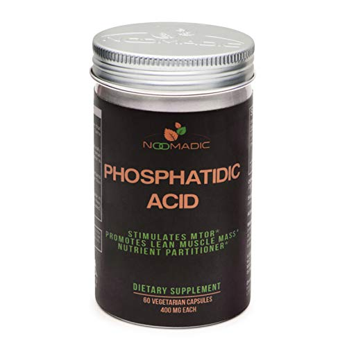 Phosphatidic Acid (PA), 60 Capsules | 400mg Each, Natural Anabolic, Lean Mass Gainer, Muscle Builder, Protein Synthesis Booster, Stimulates mTOR Activity, Standardized to 20% Phosphatidic Acid.