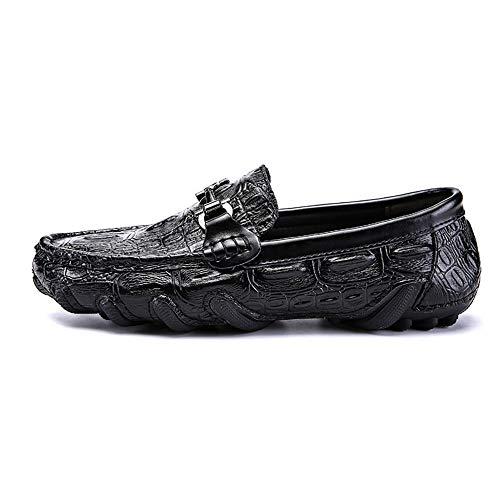 liviano Zapatos Negocio Moccasin Negro 26 Hombres Gommino de y Diseño los Zapatos genuinos de 24 Suave Zapatos Planos único de Cuero Zapatos Ocasionales conducción 5cm del Tamaño 0cm Zgsjbmh qaHtq