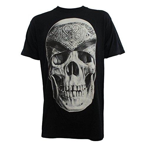 Famous Stars and Straps Men's Vatos Locos T-Shirt, Black, Large