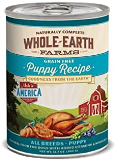 product image for Whole Earth Farms Grain Free Canned Puppy Food, Case of 12
