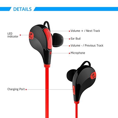 soundpeats wireless headphones sport bluetooth earbuds sweatproof running earphones bluetooth 4. Black Bedroom Furniture Sets. Home Design Ideas