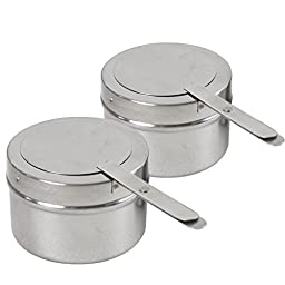 Zeny Set of (2) 8 Quart Stainless Steel Rectangular Chafing Dish Sets