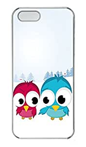 iPhone 5 5S Case Christmas Birds PC Custom iPhone 5 5S Case Cover Transparent