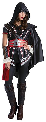 Ezio Auditore Costume (UHC Women's Assassins Creed Ezio Auditore Outfit Halloween Fancy Costume, M (10-12))