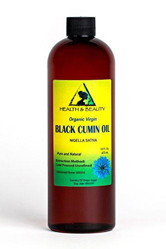 Black Seed Oil / Cumin Oil Unrefined Organic Virgin Raw Cold