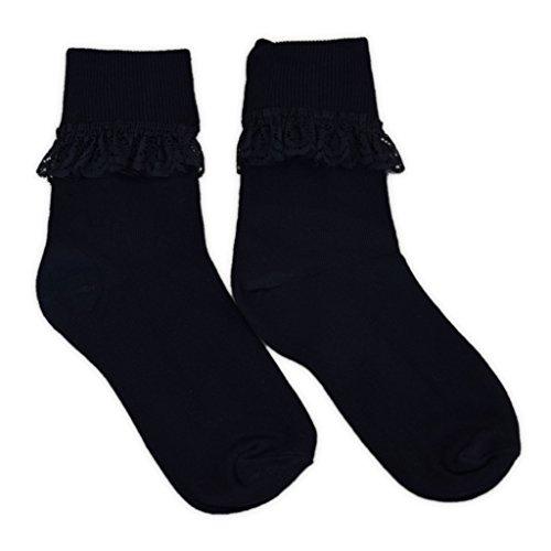 En À Riches 3 Coton Paires Froufrous Colorées Noir Chaussettes Féminines De BPaw8qwZt4