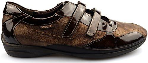 Mephisto PARNEL Sneaker en Cuir Marron à Double Fermeture Velcro