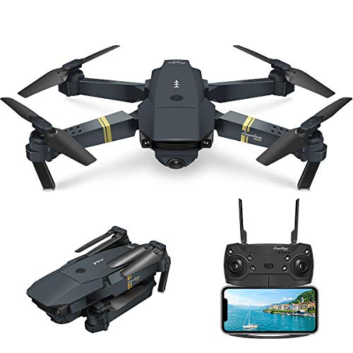 Quadcopter Drone with Camera Live Video, EACHINE E58 WiFi FPV Quadcopter with 120° Wide-Angle 720P HD Camera Foldable…
